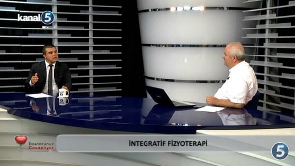 """Uzm. Fzt. Yiğit Gürsoy Kanal 5'de katıldığı programda """"İntegratif Fizyoterapi Uygulamaları""""nı anlattı."""